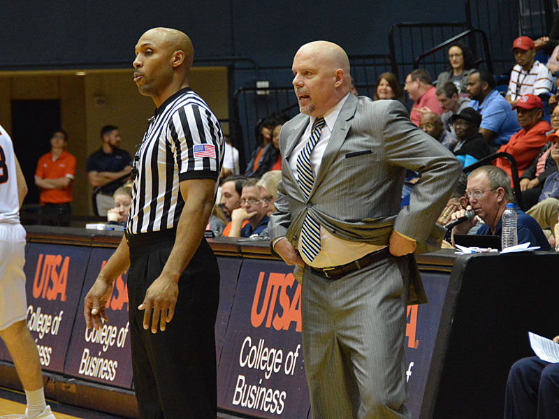 Steve Henson. UTSA beat Lamar 76-69 on Wednesday, March 14, 2018 at the UTSA Convocation Center in the CollegeInsider.com Tournament. Photo by Joe Alexander