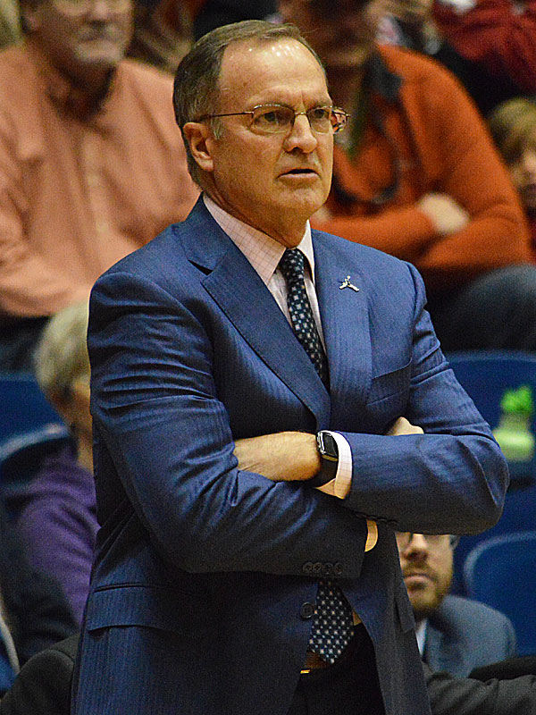 Oklahoma coach Lon Kruger. Oklahoma beat UTSA 87-67 on Monday, Nov. 12, 2018, at the UTSA Convocation Center. - photo by Joe Alexander