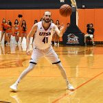 Tooby Van Ry. St. Edward's beat UTSA 77-76 in men's basketball on Wednesday night, Nov. 8, 2018, at the UTSA Convocation Center. - photo by Joe Alexander