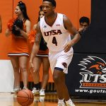 Tamir Bynum. St. Edward's beat UTSA 77-76 in men's basketball on Wednesday night, Nov. 8, 2018, at the UTSA Convocation Center. - photo by Joe Alexander