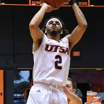 Jhivvan Jackson. UTSA beat Southeastern Oklahoma State 70-67 on Saturday, Dec. 29, 2018, at the UTSA Convocation Center. - photo by Joe Alexander