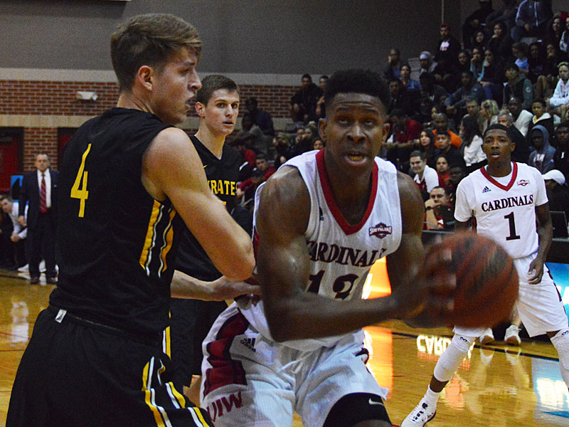 Charles Brown III recorded 24 points and 13 rebounds in Incarnate Word's 87-71 victory over Southwestern on Friday. (Joe Alexander / theJBreplay.com)