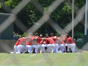 Incarnate Word players gather before Friday's game against Sam Houston State. - photo by Joe Alexander