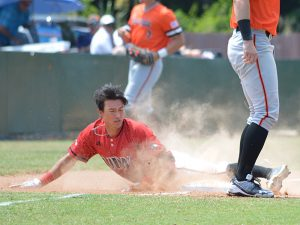 Incarnate Word's Ryan Gonzalez slides safely into third against Sam Houston State on Friday. - photo by Joe Alexander