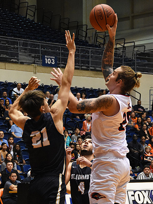 Nick Allen. St. Edward's beat UTSA 77-76 in men's basketball on Wednesday night, Nov. 8, 2018, at the UTSA Convocation Center. - photo by Joe Alexander