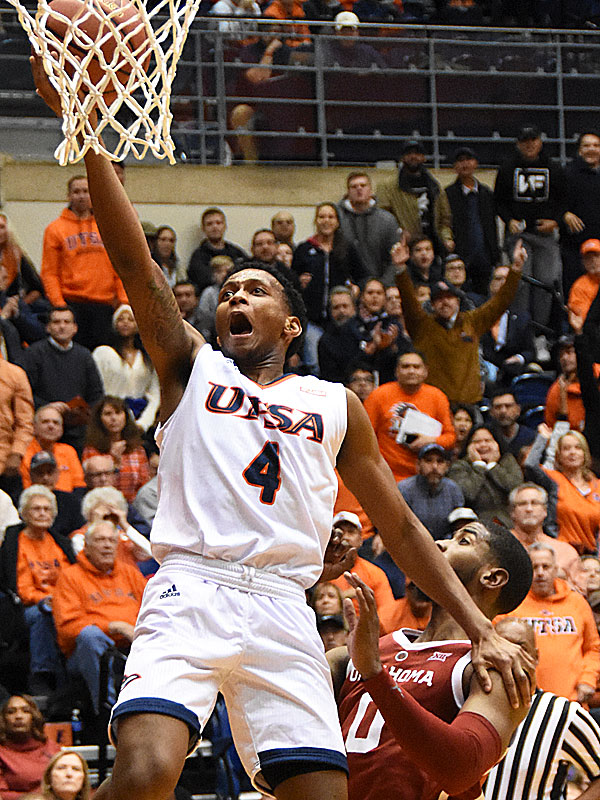 UTSA freshman guard Tamir Bynum. Oklahoma beat UTSA 87-67 on Monday, Nov. 12, 2018, at the UTSA Convocation Center. - photo by Joe Alexander