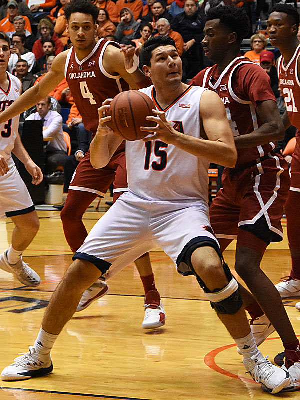Adrian Rodriguez. Oklahoma beat UTSA 87-67 on Monday, Nov. 12, 2018, at the UTSA Convocation Center. - photo by Joe Alexander