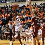Adokiye Iyaye. Oklahoma beat UTSA 87-67 on Monday, Nov. 12, 2018, at the UTSA Convocation Center. - photo by Joe Alexander