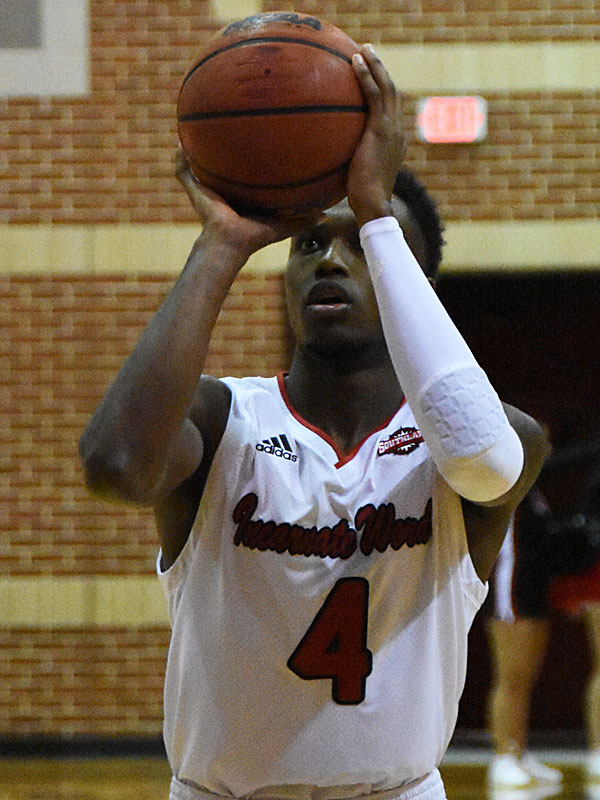 Incarnate Word's Christian Peevy is 50-of-55 (90.9 percent) on free throws through the first 10 games of the season. The Cardinals are 171-of-208 (82.2 percent) as a team through 10 games. - photo by Joe Alexander