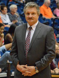 Texas State coach Danny Kaspar. His Bobcats beat UTSA 69-68 at the UTSA Convocation Center on Saturday, Dec. 1, 2018. - photo by Joe Alexander