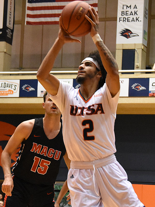 Jhivvan Jackson. UTSA beat Mid-American Christian 104-74 on Saturday, Dec. 8, 2018, at the UTSA Convocation Center. - photo by Joe Alexander