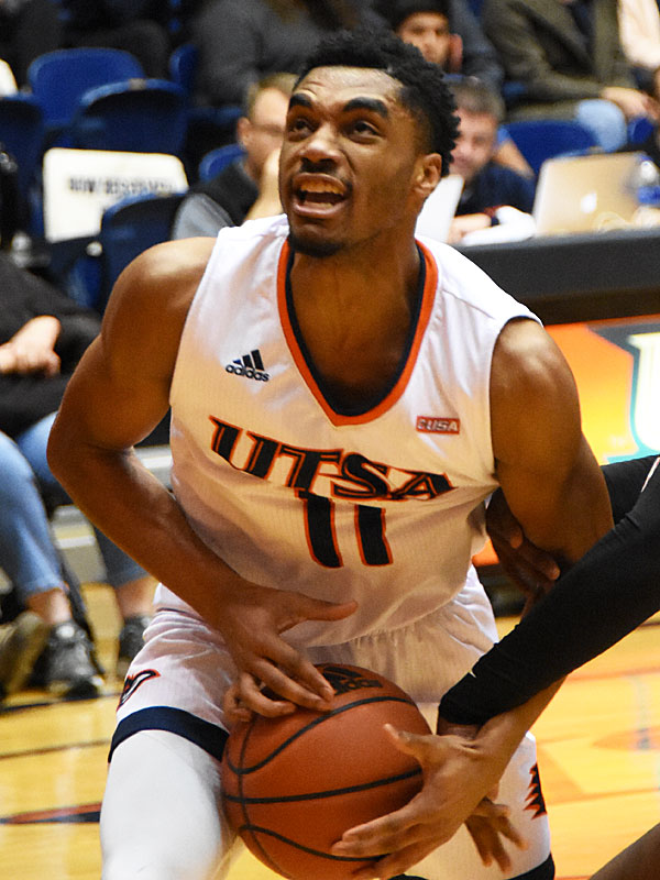 Adokiye Iyaye. UTSA beat Mid-American Christian 104-74 on Saturday, Dec. 8, 2018, at the UTSA Convocation Center. - photo by Joe Alexander