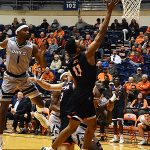 Adokiye Iyaye. UTSA beat Rice 95-79 on Thursday, Jan. 10, 2019, at the UTSA Convocation Center.