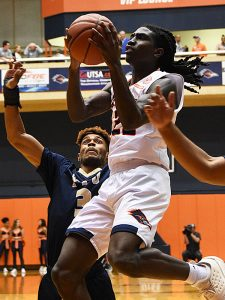 Keaton Wallace. UTSA beat Florida International 100-67 on Thursday, Feb. 7, 2019, at the UTSA Convocation Center. - photo by Joe Alexander