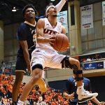 Jhivvan Jackson. UTSA beat Florida International 100-67 on Thursday, Feb. 7, 2019, at the UTSA Convocation Center. - photo by Joe Alexander