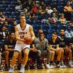 UTSA guard Erik Czumbel playing at the Convocation Center on Wednesday, Oct. 30, 2019. The Roadrunners beat Texas A&M International 89-60 in an exhibition game. - photo by Joe Alexander
