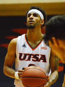 Jhivvan Jackson, shown in UTSA's exhibition game on Oct. 30, led the Roadrunners with 24 points and 13 rebounds in their season opener against Oklahoma on Tuesday. - photo by Joe Alexander