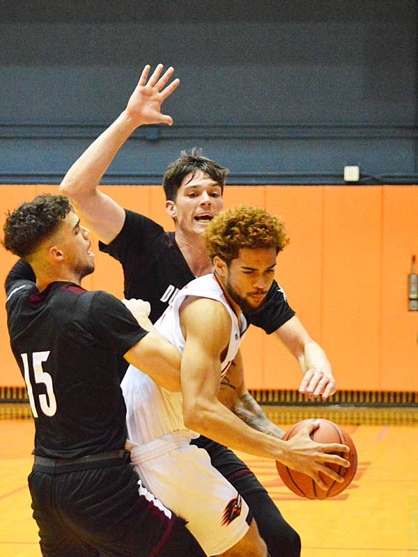 UTSA guard Makani Whiteside playing at the Convocation Center on Wednesday, Oct. 30, 2019. The Roadrunners beat Texas A&M International 89-60 in an exhibition game. - photo by Joe Alexander