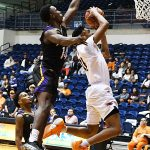 Adokiye Iyaye. Prarie View A&M beat UTSA 79-72 on Saturday night at the UTSA Convocation Center. - photo by Joe Alexander