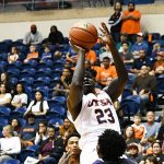 Atem Bior. Prarie View A&M beat UTSA 79-72 on Saturday night at the UTSA Convocation Center. - photo by Joe Alexander