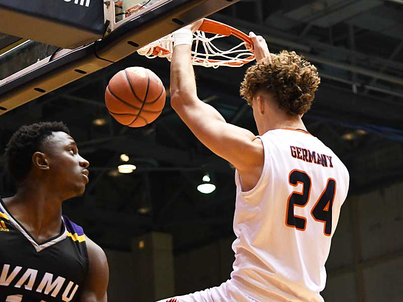Jacob Germany. Prarie View A&M beat UTSA 79-72 on Saturday night at the UTSA Convocation Center. - photo by Joe Alexander