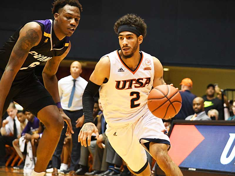 Jhivvan Jackson. Prarie View A&M beat UTSA 79-72 on Saturday night at the UTSA Convocation Center. - photo by Joe Alexander
