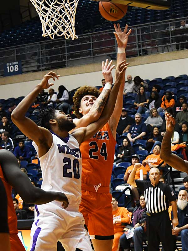 Jacob Germany. UTSA beat Wiley College 90-68 on Friday in the Roadrunners' first home game of the 2019-20 men's basketball season. - photo by Joe Alexander