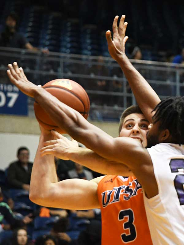Byron Frohnen. UTSA beat Wiley College 90-68 on Friday in the Roadrunners' first home game of the 2019-20 men's basketball season. - photo by Joe Alexander