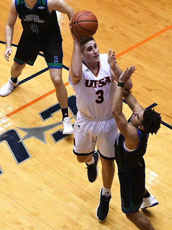 Byron Frohnen. UTSA beat A&M-Corpus Christi 89-67 on Tuesday night at the UTSA Convocation Center. - photo by Joe Alexander