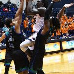 Keaton Wallace. UTSA beat A&M-Corpus Christi 89-67 on Tuesday night at the UTSA Convocation Center. - photo by Joe Alexander