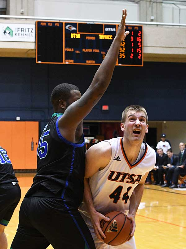 Luka Barisic. UTSA beat A&M-Corpus Christi 89-67 on Tuesday night at the UTSA Convocation Center. - photo by Joe Alexander