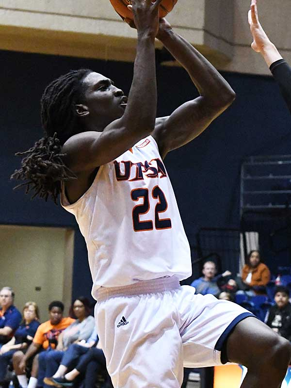 UTSA beat Our Lady of the Lake 99-64 on Saturday at the UTSA Convocation Center. Keaton Wallace led UTSA with 30 points. - photo by Joe Alexander