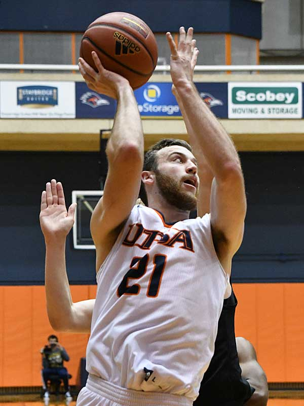UTSA beat Our Lady of the Lake 99-64 on Saturday at the UTSA Convocation Center. Knox Hellums had 11 points for the Roadrunners. - photo by Joe Alexander