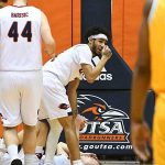 UTSA guard Erik Czumbel was hurt playing against Southern Miss on Saturday at the UTSA Convocation Center. - photo by Joe Alexander