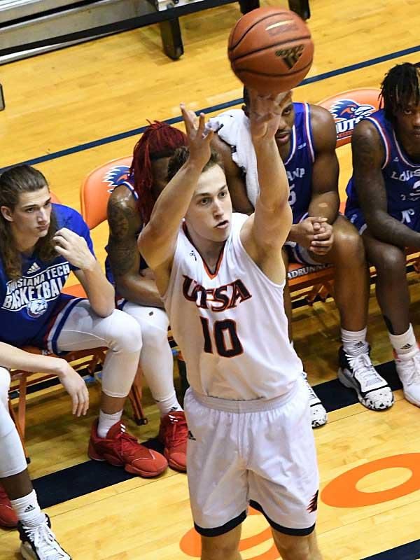 Erik Czumbel. UTSA beat Louisiana Tech 89-73 in Conference USA on Thursday at the UTSA Convocation Center. - photo by Joe Alexander