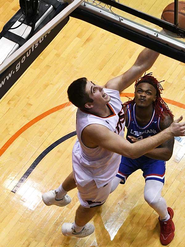 Byron Frohnen. UTSA beat Louisiana Tech 89-73 in Conference USA on Thursday at the UTSA Convocation Center. - photo by Joe Alexander
