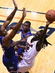 Keaton Wallace. UTSA beat Louisiana Tech 89-73 in Conference USA on Thursday at the UTSA Convocation Center. - photo by Joe Alexander