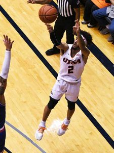 Jhivvan Jackson had 37 points, 6 assists and 5 rebounds to lead UTSA to an 89-73 conference victory over Louisiana Tech on Thursday at the UTSA Convocation Center. - photo by Joe Alexander