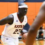 Atem Bior. UTSA beat Southern Miss 80-70 on Saturday for the Roadrunners' second straight Conference USA victory at the UTSA Convocation Center. - photo by Joe Alexander