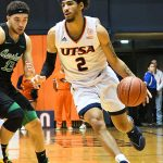 Jhivvan Jackson. UTSA beat Marshall 72-63 in Conference USA on Thursday at the UTSA Convocation Center. - photo by Joe Alexander