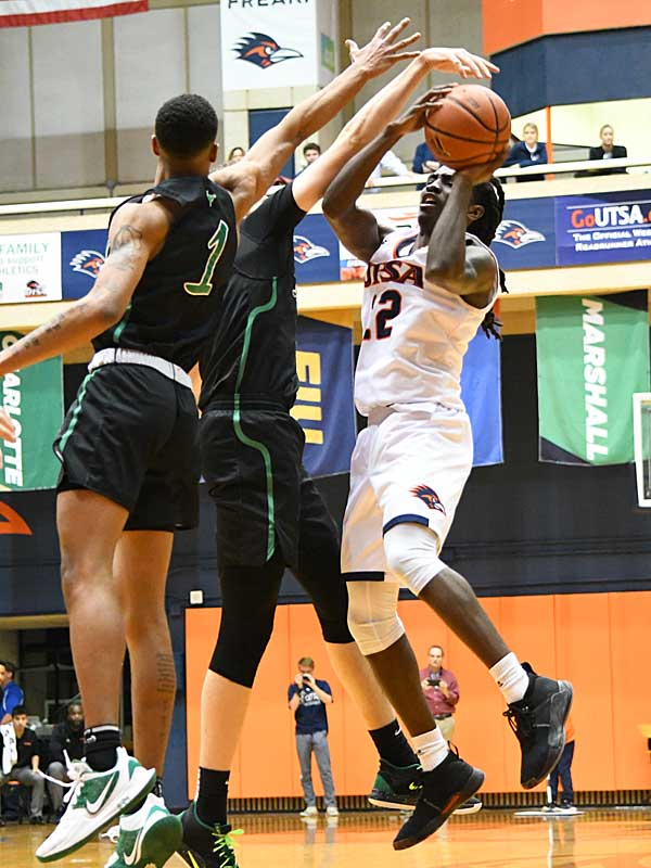 Keaton Wallace. UTSA beat Marshall 72-63 in Conference USA on Thursday at the UTSA Convocation Center. - photo by Joe Alexander