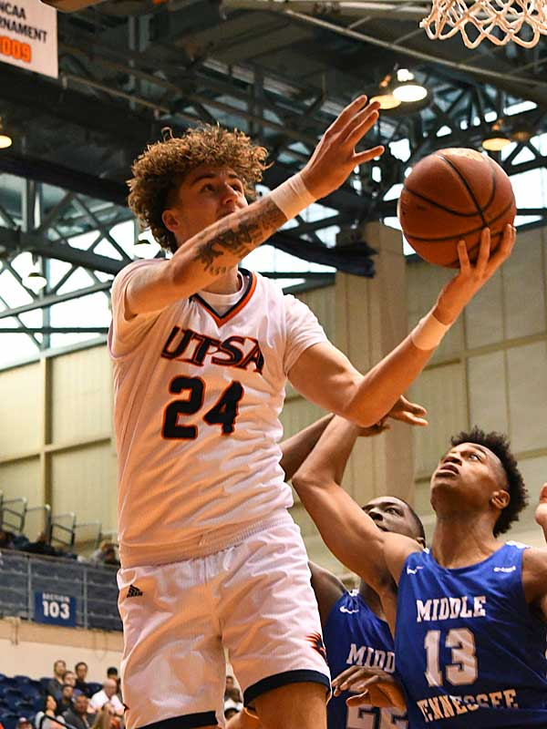 Jacob Germany. UTSA lost to Middle Tennessee on Saturday at the UTSA Convocation Center. - photo by Joe Alexander