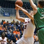 Byron Frohnen. UTSA lost to Marshall 82-77 Saturday in the Roadrunners' final home game of the season at the UTSA Convocation Center. - photo by Joe Alexander