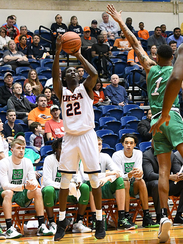 Keaton Wallace. UTSA lost to Marshall 82-77 Saturday in the Roadrunners' final home game of the season at the UTSA Convocation Center. - photo by Joe Alexander