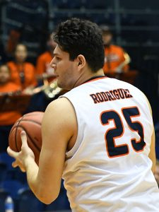 Sophomore forward Adrian Rodriguez made his first career start as UTSA beat UAB 66-59 in Conference USA bonus play on Sunday at the UTSA Convocation Center. - photo by Joe Alexander