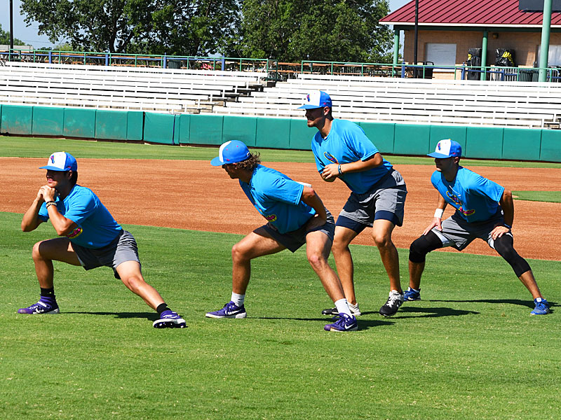 The 2020 Flying Chanclas de San Antonio go through practice and meet with the local media on Thursday, June 25, 2020, at Wolff Stadium. - photo by Joe Alexander