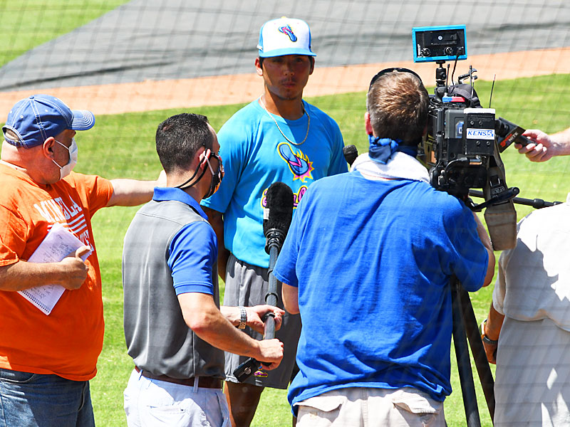 Jaime Ramirez Jr. The 2020 Flying Chanclas de San Antonio go through practice and meet with the local media on Thursday, June 25, 2020, at Wolff Stadium. - photo by Joe Alexander