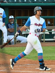 Anthony Forte had the Flying Chanclas' only RBI of the game when his sixth-inning ground ball brought in Jalen Battles from third base against the Amarillo Sod Squad on Thursday at Wolff Stadium. - photo by Joe Alexander