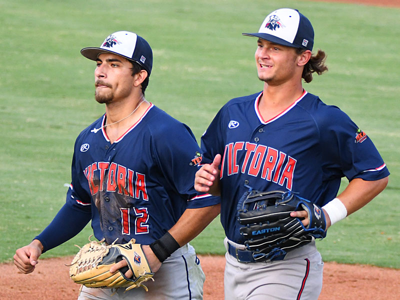 Victoria Generals center fielder Jonathan Tapia (left) and right fielder Hobbs Price are both from UTSA. - photo by Joe Alexander