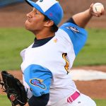 Johnny Panatex from St. Mary's and Pflugerville pitched the fourth inning for the Flying Chanclas against Texas USA on Saturday night at Wolff Stadium. - photo by Joe Alexander
